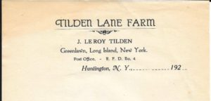 Roy's farm letterhead from the 1920s.