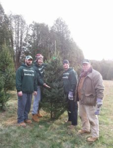 Andrew, Pete, Tim and Bruce, showing off a Fraser Fir.