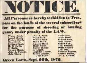 "John Tilden was among the ""Green Lawn"" farmers who signed this 1872 broadside."