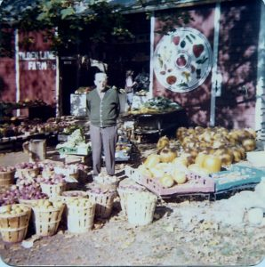 "Roy ""Pa"" Tilden at the farmstand in 1978, a year before his passing."