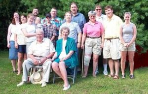 The family in 2001 for Herb and Mabel's 50th Wedding Anniversary.