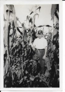 Another shot of Herb in a corn field in the late 1930s.